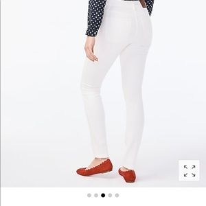 J.Crew cropped 8 inch mid rise white skinny jeans